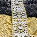 Bracciale traforato in argento con zirconia