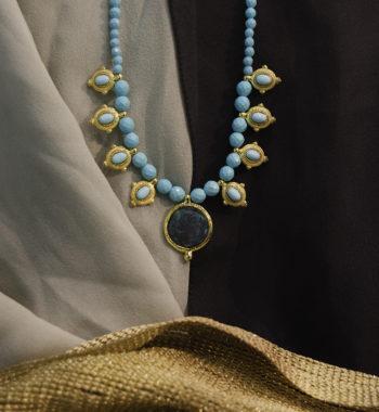collana in argento placcato oro (michelangelo)