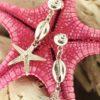Orecchini in argento stella marina